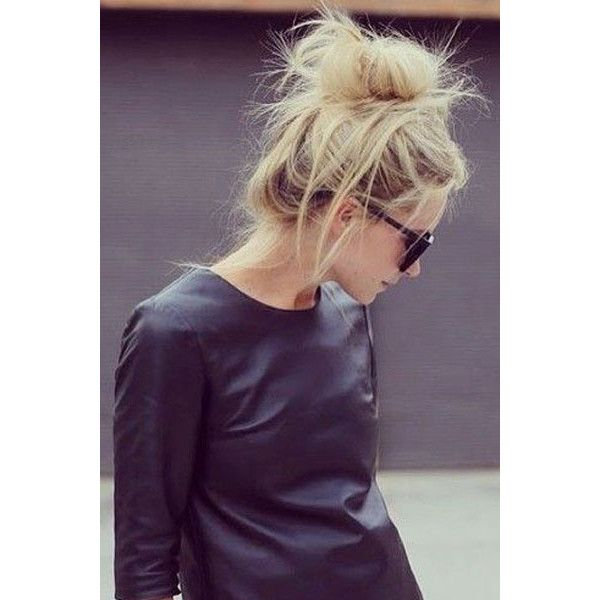 Your Weekend Hairstyle Messy-Chic Buns ❤ liked on Polyvore featuring hair, people, hairstyles, models and beauty