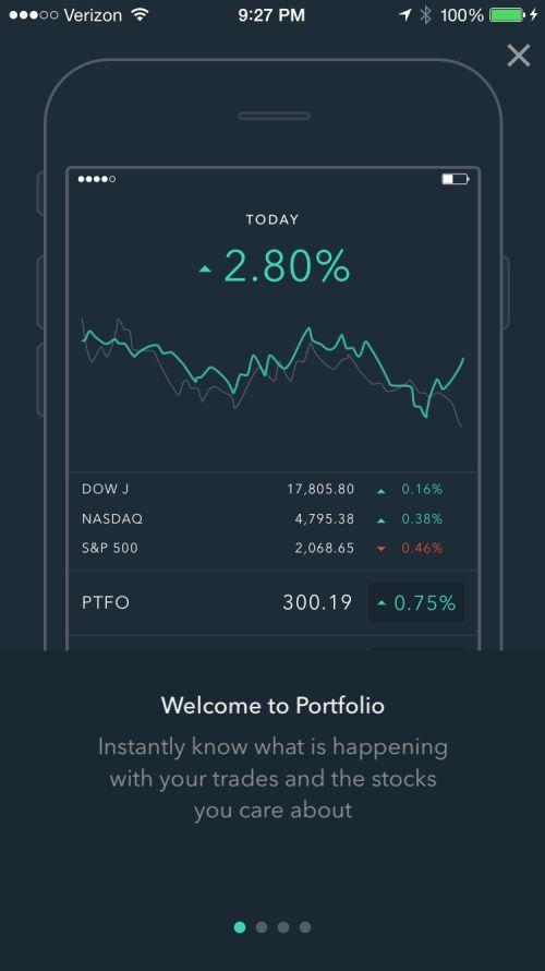 portfolio tracking app iphone