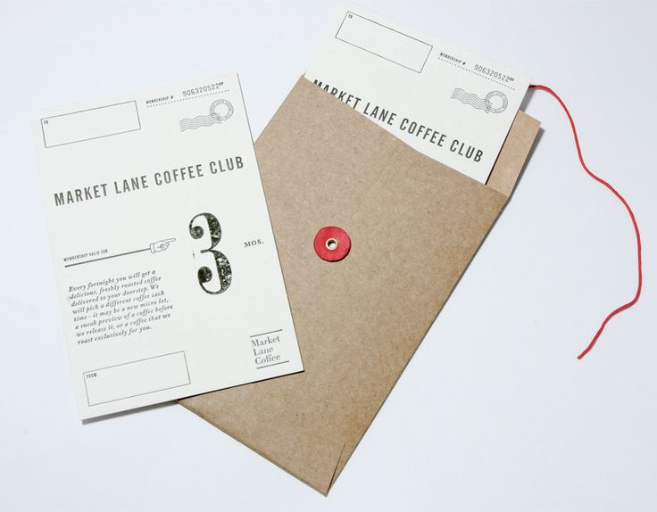 Market Lane Coffee - Coffee Club Gift Certificate   Designer: Swear Words
