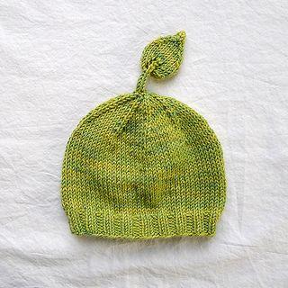 Wee Leafy Baby Hat - Free Knit Pattern by Pamela Wynne at Ravelry