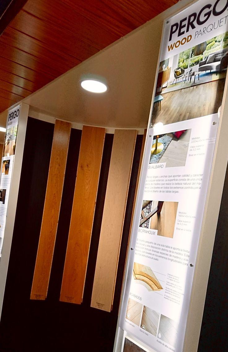 #Parquetflotante de madera de @PergoEuropeAB en la exposición para profesionales de #leonesp