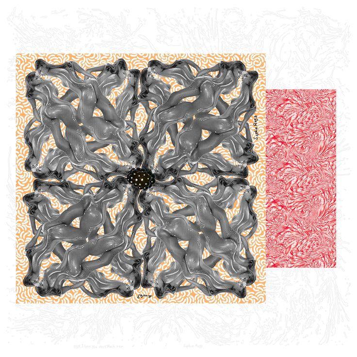 playful design en zachte zijden stof. De sjaals van Sohpie Rogg op www.dastoon.com