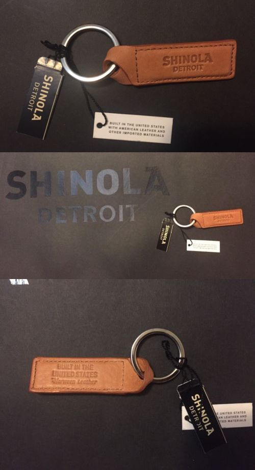 Key Chains 169280: Shinola Detroit Twist Key Fob Chain Natural Tan Leather Unisex Nwt -> BUY IT NOW ONLY: $32 on eBay!