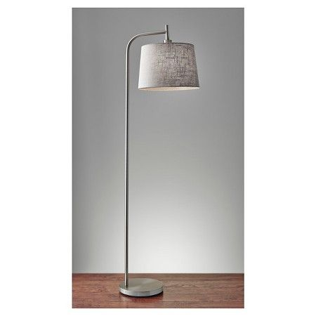 Living Room - at end of sectional Adesso Blake Floor Lamp - Silver : Target