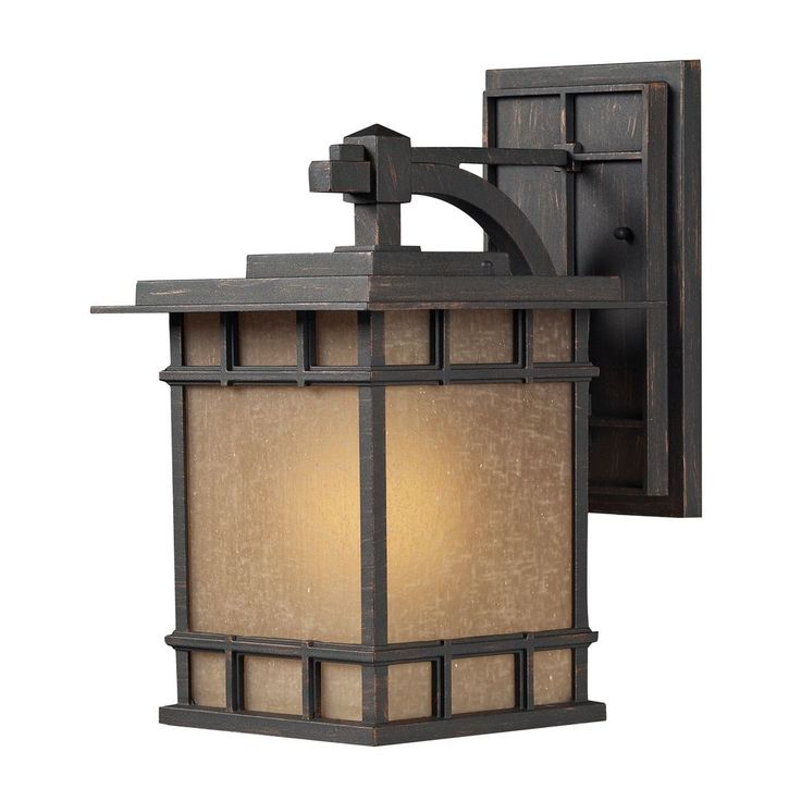"""$240 - 15x9"""" http://www.destinationlighting.com/item/led-outdoor-wall-light-brown-tones-glass-weathered-charcoal-finish/P1167772"""