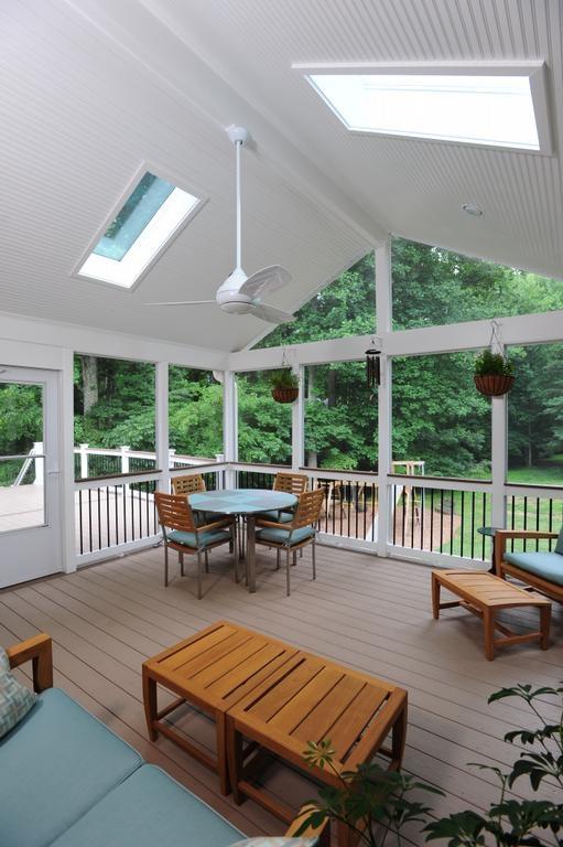 screened in porch interior
