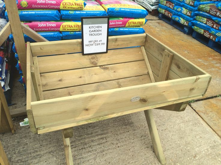 Small raised bed for herbs to sit on patio. This is from badshot lea garden centre. Quite like the shape!