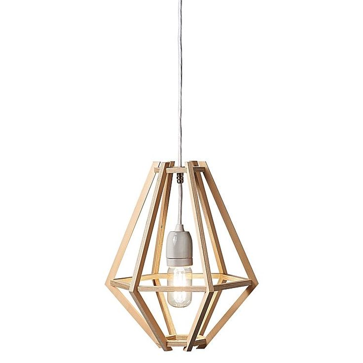 Expose the minimalism of your style with the angular form of the contemporary Cumulus Nude Pendant Light, Medium from Enoki.