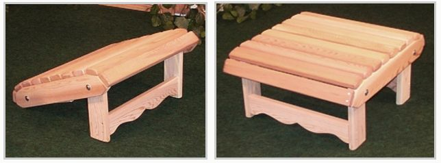 Add a matching Royal Ottoman to your Peak Adirondack Chairs for that perfect set! Our custom designed Ottoman/footrest adjusts to 2 different positions for more versatility than traditional Adirondack/Muskoka chair ottomans. Used at a slant the Royal Ottoman creates that lounge chair effect for ultimate comfort and relaxation, used upright and you have a way to get those tired legs up to relax, or an extra seat when you have guests.