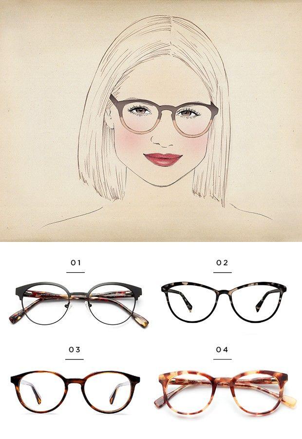billig für Rabatt Treffen Kundschaft zuerst Inspirierende Frisuren für runde Gesichter mit Brille ...