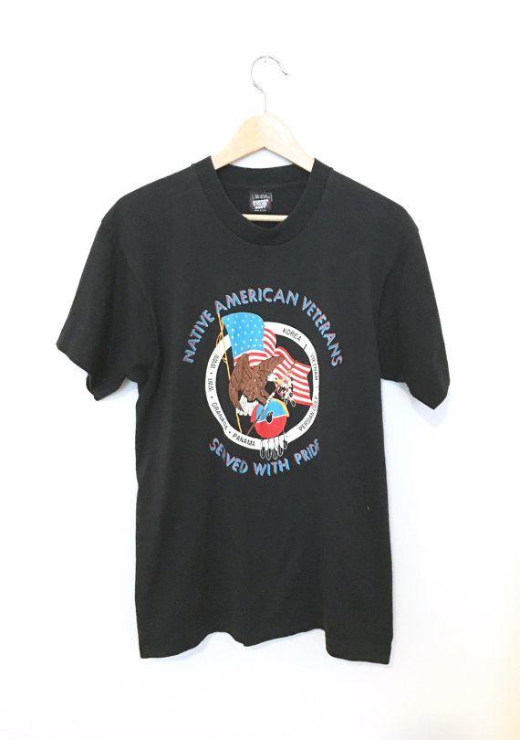Vintage Native American Veterans T-shirt by BrooklynsTrunk on Etsy