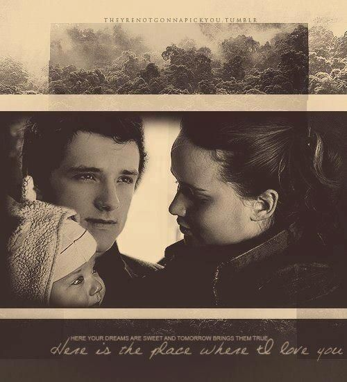THE FEELS, KATNISS AND PEETA AND THEIR DAUGHTER! This edit. I just. This is beautiful.