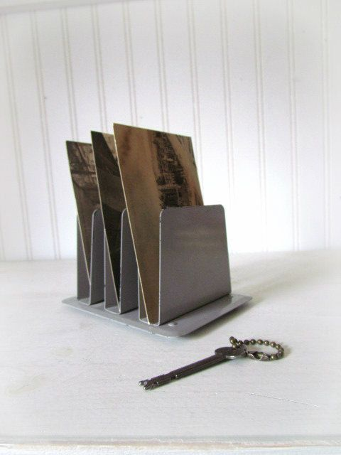 small industrial letter holder industrial desk accessory metal mail holder 6