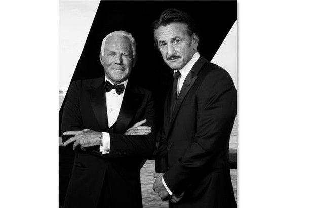 Giorgio Armani e Sean Penn insieme per una campagna di charity a sostegno della popolazione di Haiti