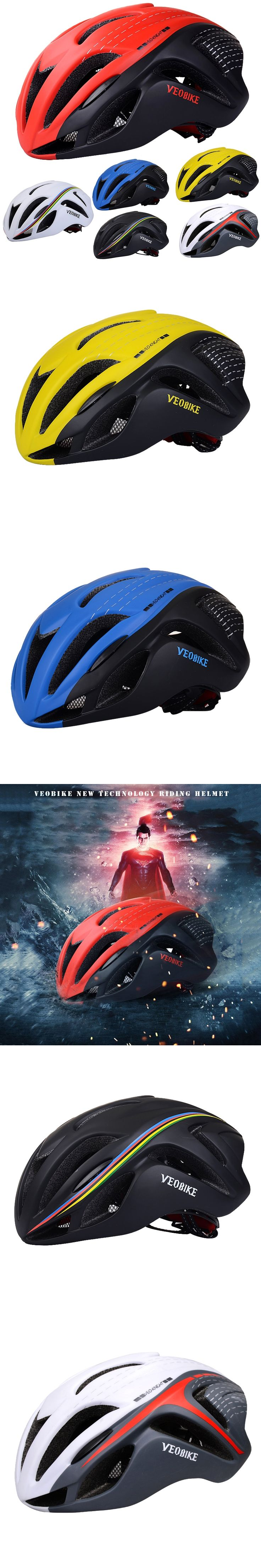 VEOBIKE Breathable Cycling Helmet Mountain Bike Bicycle Helmets Safety Equipment Design Ergonomic Oversized 15 Air Vents 250g