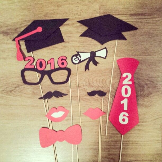 Accesorii foto absolvire - graduation photo booth props