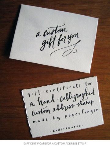 Custom Address Stamp from Paper Finger