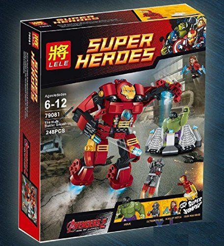 The Hulk Buster Smash Iron Man Scarlet Witch Ultron Prime Superhero Avengers 2 Set Building Blocks C @ niftywarehouse.com #NiftyWarehouse #Geek #Fun #Entertainment #Products