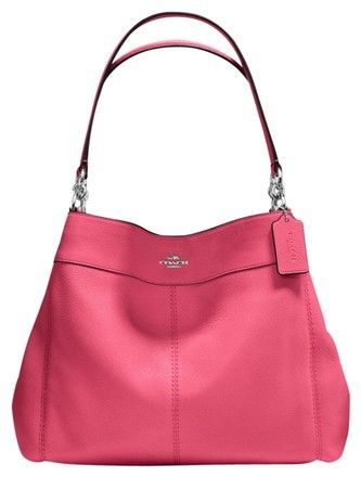 Coach  Large Leather Lexy Tote Hobo Strawberry Shoulder Bag