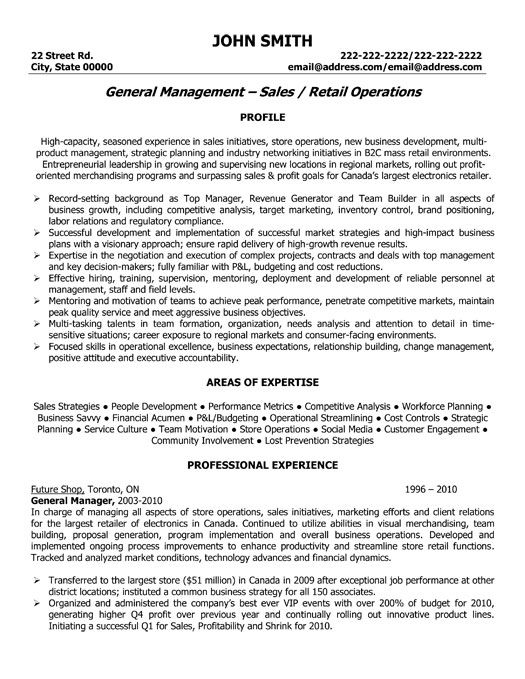 Professional Sales Resume Examples - Examples of Resumes