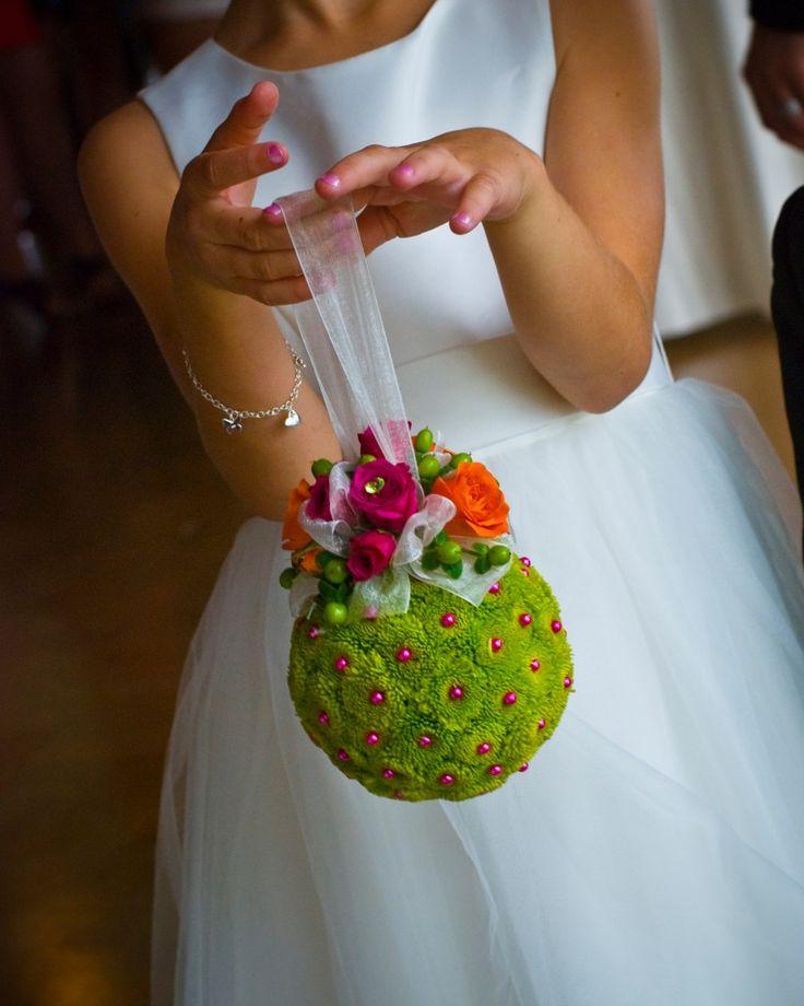flower girl pomander (kissing ball)