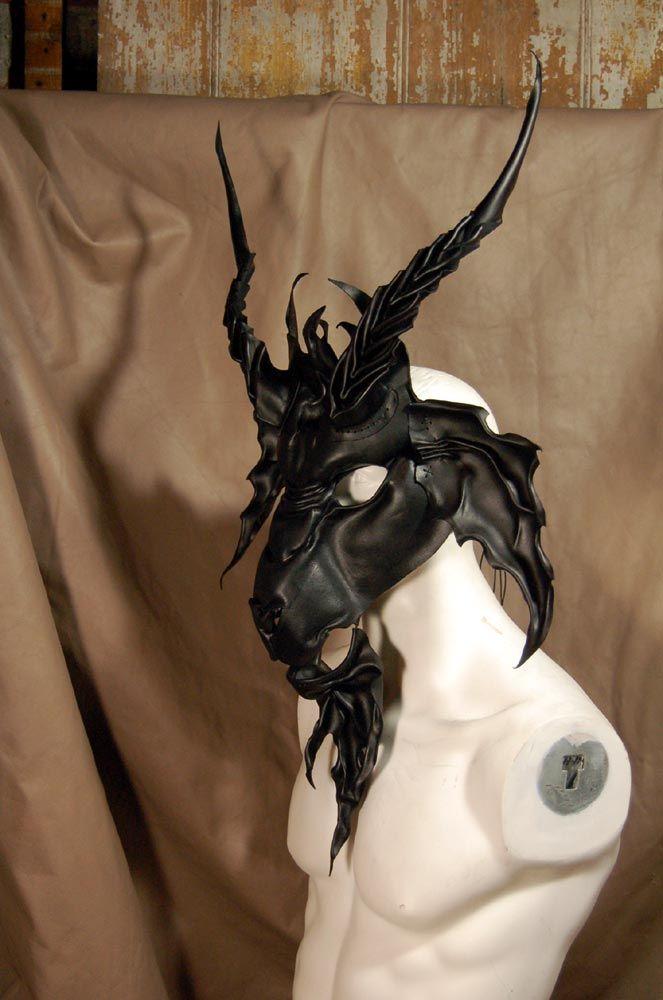 Baphomet leather mask by MidnightZodiac.deviantart.com on @deviantART