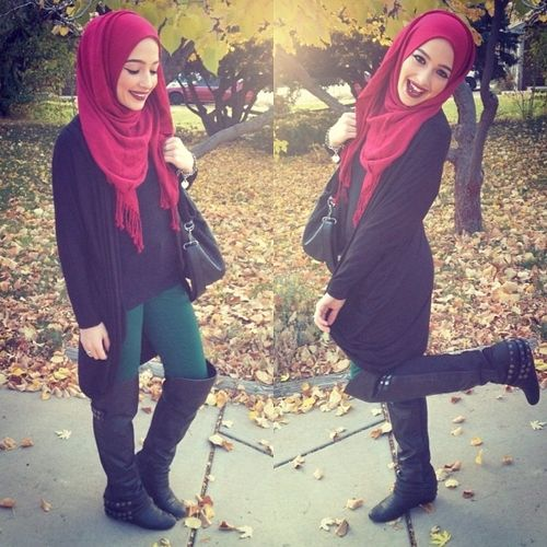 Fall outfit w colors. #hijab