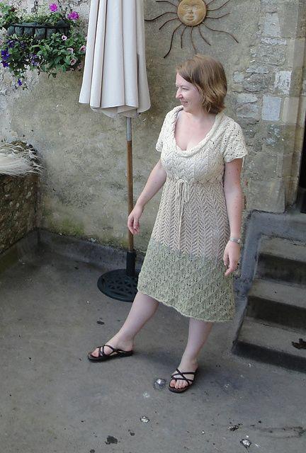 Design by Marie Wallin in Rowan Summer Tweed; at Amberley Castle, Sussex