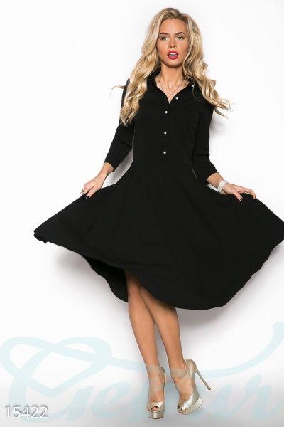 8fa5078bffb Женственное платье-клеш (черный) в интернет магазине Sosiska  сукня   платьякиев  платьяхарькв  платьяодесса  платьяльвов  плаття  платтячко