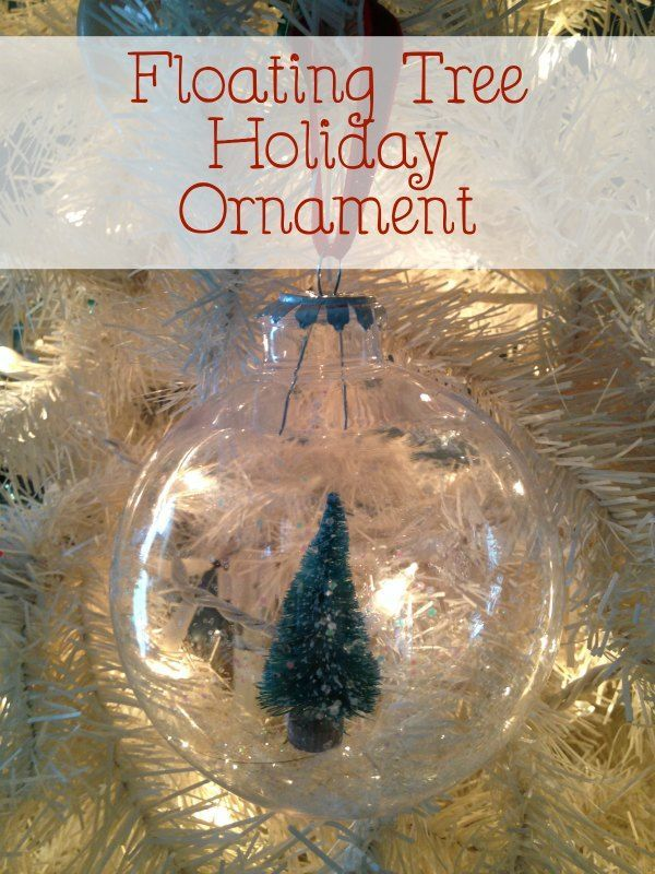 Easy Christmas Ornament to Make With Kids Floating Tree Holiday Ornament :: {DIY Christmas Ornament}
