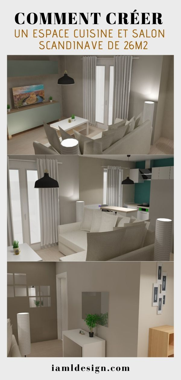 Wie Erstelle Ich Eine Skandinavische Kuche Und Wohnzimmerflache Von 26m2 Site Today