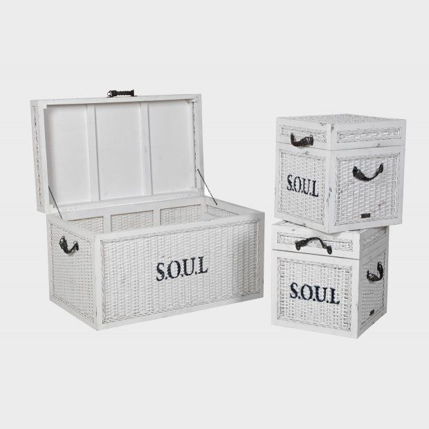 Set of 3 SOUL storage boxes #meyerandmarsh #storagesolutions #storage