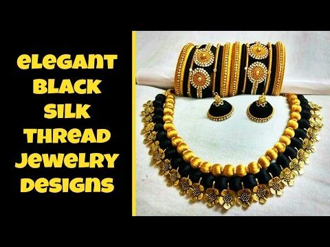 Silk thread Bail necklace-perfect finish | Tutorial !!!!! - YouTube