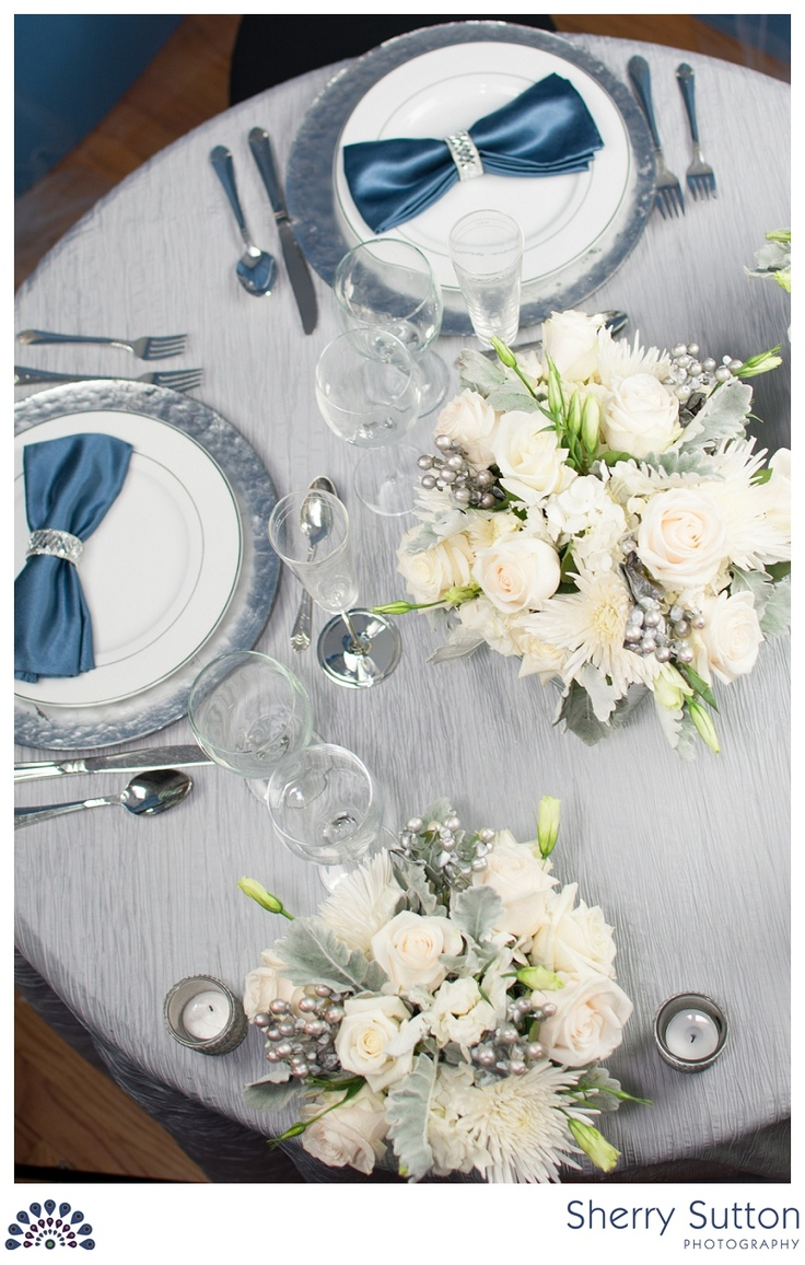 15 best Silver, white and blue wedding theme (styled shoot) images ...