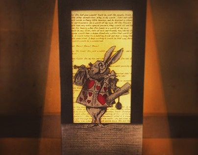 "Check out new work on my @Behance portfolio: ""Alice in Wonderland Handmade Lamp"" http://on.be.net/1eFMcq8"