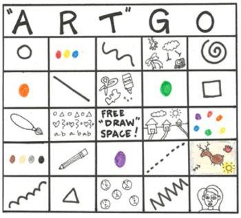 """ArtGo"" Art Bingo Game for Elementary and Primary Grades"