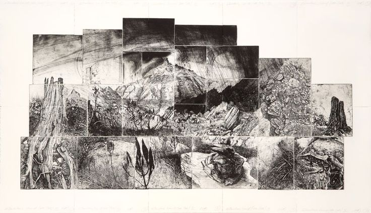 Ray Arnold, Elsewhere World, etching