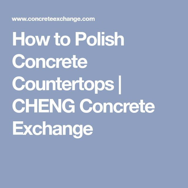 how to clean polished concrete countertops