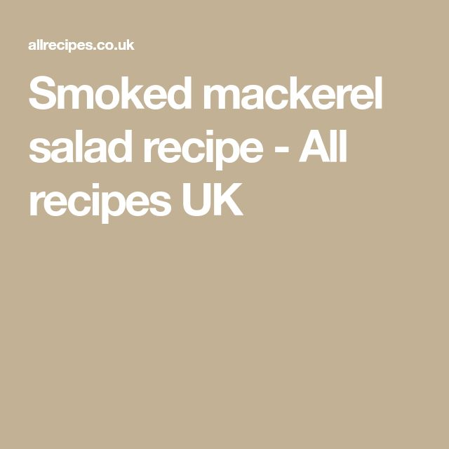 Smoked mackerel salad recipe - All recipes UK