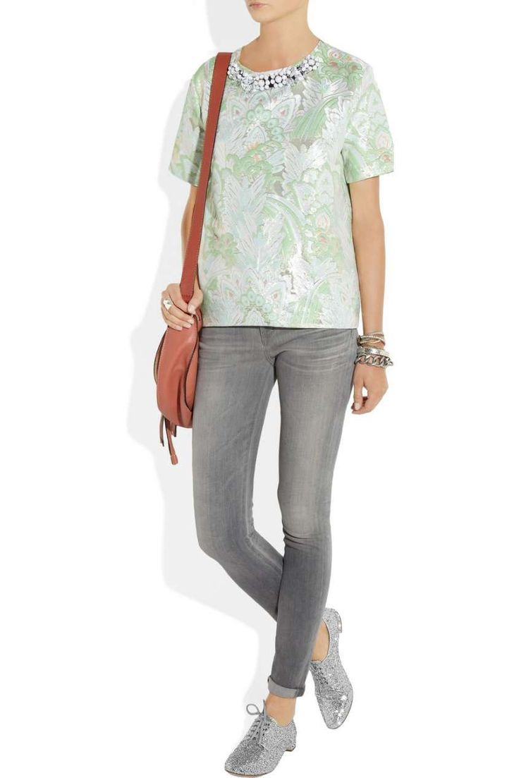 Scarpe da abbinare ai pantaloni stretti - Stringate glitter e jeans stretti