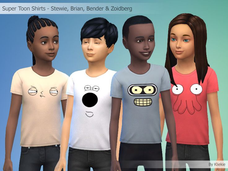 Super Toons Shirts - 24 Characters By Kliekie #Download #Sims4 #TS4 #MM #CC #MMCC #TS4MM #TS4Finds #CustomContent #Sims4CC #Clothing #Casual #Generic #Male #Female #Girls #Boys #Kids #Children #Black #White #Grey #Red #Pink #Purple #Yellow #Green #Blue #Orange #Multicolor