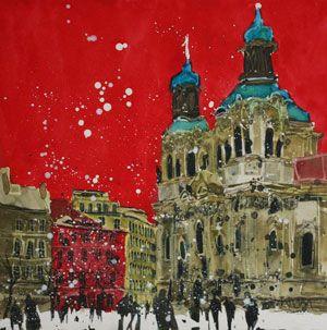 Artist: Susan Brown; Painting: 'Feast of Stephen', Prague