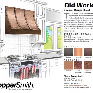 Old World Copper Range Hood by World CopperSmith