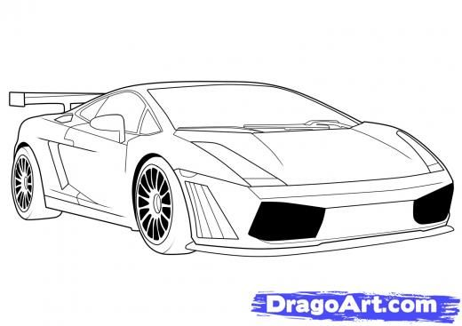 how to draw a lamborghini in 8 steps cool cars pinterest how to draw to draw and draw - Cars Drawings Step By Step