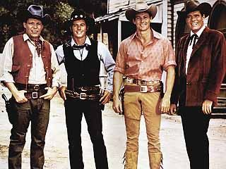Laredo - Neville Brand as Reese Bennett, Peter Brown as Chad Cooper, William Smith as Joe Riley, and Phillip Carey as Captain Parmalee