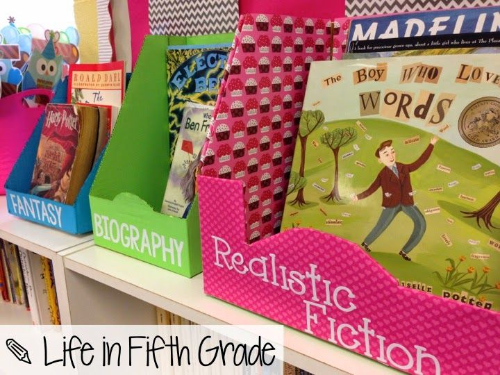 Blog Hoppin': Free/Cheap Classroom Decor Ideas - What a great idea for free book baskets!