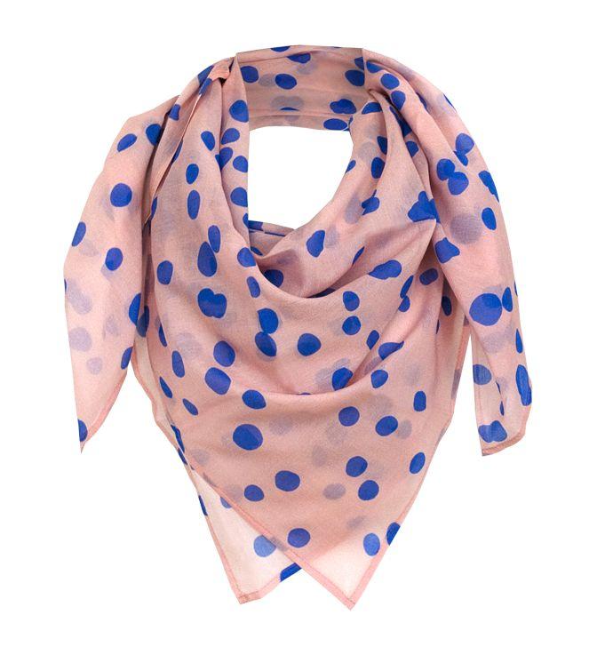 """Silk-Cotton Scarve in 100x100 cm """"bambi blue"""" by studio nono http://studio-nono.net"""