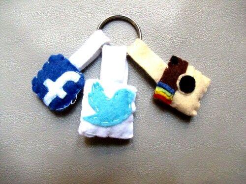 Portachiavi social network