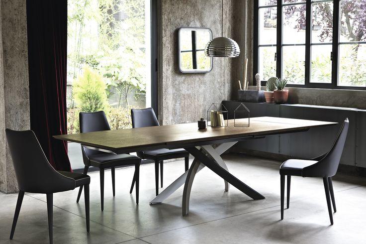 Artistico étkezőasztal + Clara szék | Artistico dining table + Clara chair;  Gyártó | Manufacturer: Bontempi;  Elérhető: Deco Interiors, Szeged