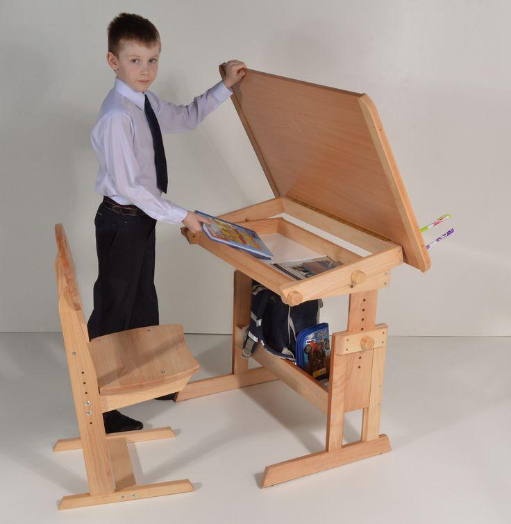 Парта с наклоном столешницы и стул по низкой цене